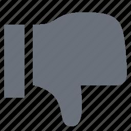 dislike, pika, simple, social media, social network, thumbs down, unlike icon