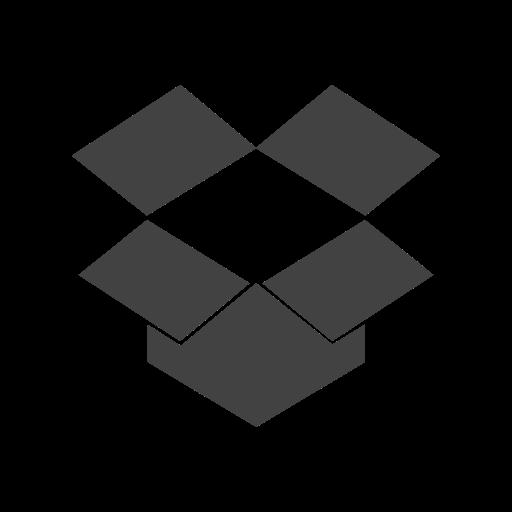 brand, cloud, data, dropbox, screen, storage, technology icon