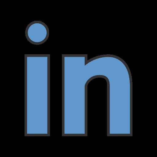 communication, linkedin, logo, service, social, web, website icon