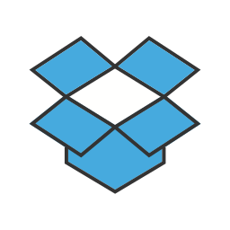 brand, cloud, data, dropbox, screen, storage, technology icon