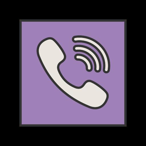 call, contact, logo, media, message, social, viber icon