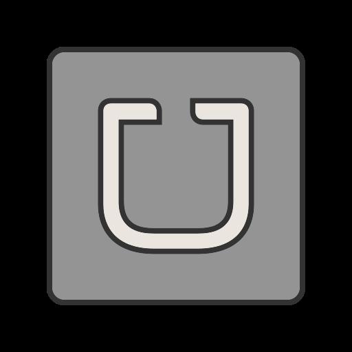 app, communication, mobile, network, screen, transportation, uber icon