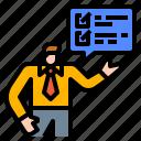awareness, brand, business, businessman, engagement icon