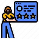 feedback, ranking, rating, review, website