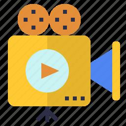 film, introduction, movie, presentation, video icon