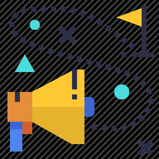 direction, marketing, path, plan, strategy icon