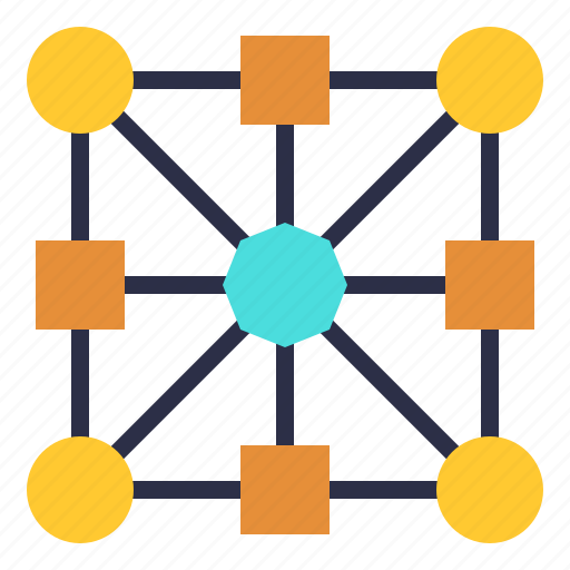 chain, connecting, link, networking, node, relationship, web icon