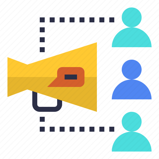 announcement, customer, management, public, relations icon