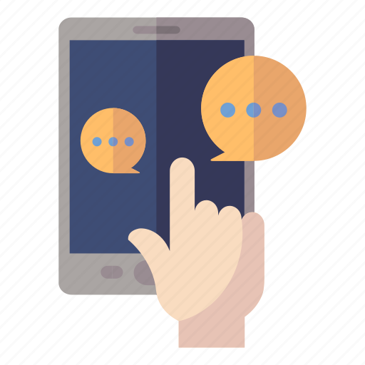 chat, customer support, message, social media icon