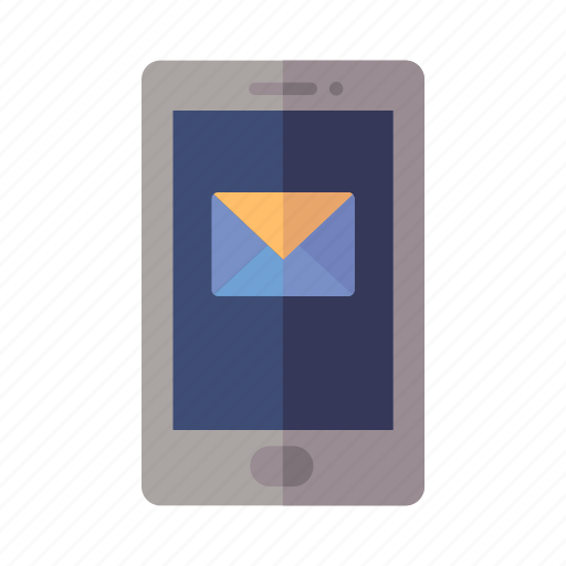 email, message, mobile phone icon