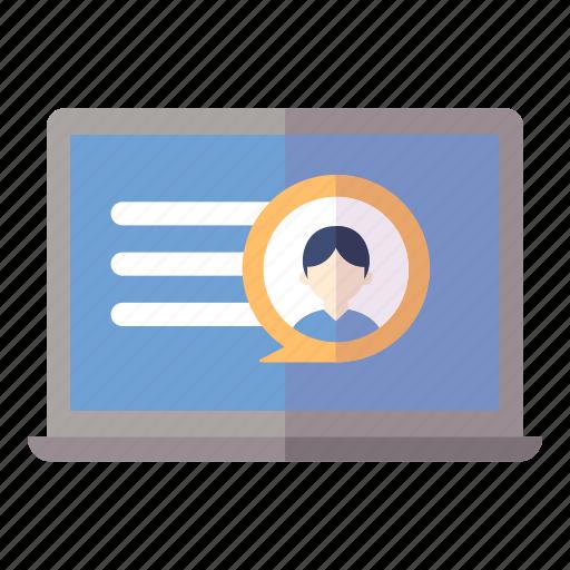 online profile, resume, social media icon