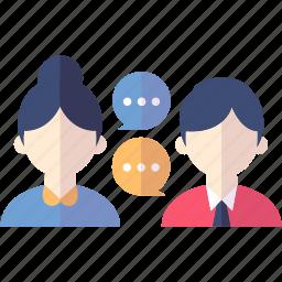 communicating, conversation, social media icon