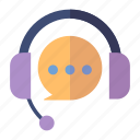 customer service, customer support, headphones icon