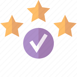 approved, quality, rating icon