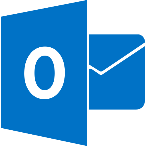 Outlook, website, marketing, media, social icon