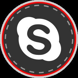 media, online, skype, social icon