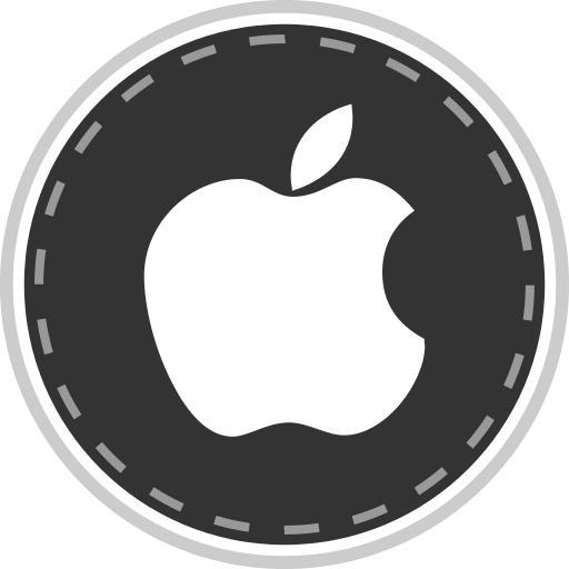 apple, media, online, social icon
