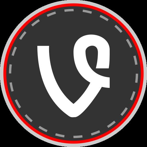 media, online, social, vine icon