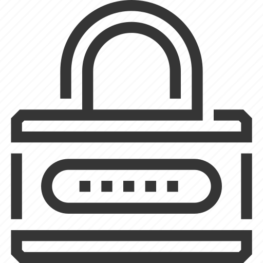 block, lock, locked, padlock, protection, security, security system icon