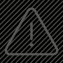alert, attention, important, notice, warn, warning icon