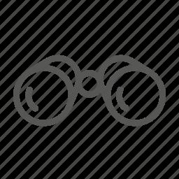 binoculars, find, search, seek icon