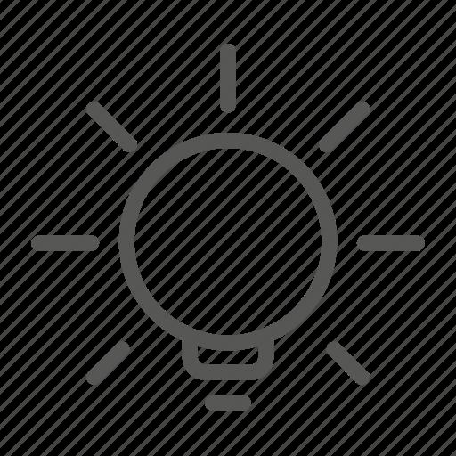 bulb, concept, discover, idea, solution icon