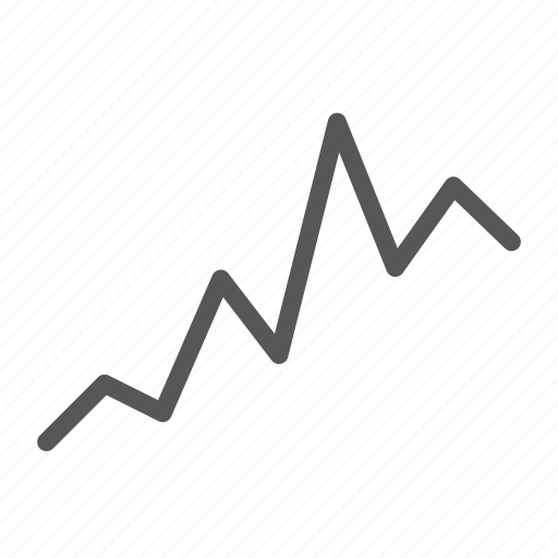 analytics, analyze, graph, growth, line icon