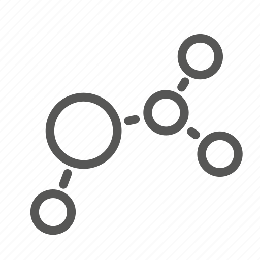 communication, connection, molecule, network icon