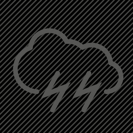lightning, problem, storm icon