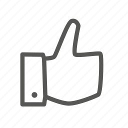 favorite, like, rate, thumb, up icon