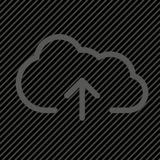 cloud, send, storage, upload icon