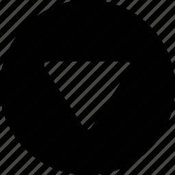 arrow, cascade, descend, direction, down, move, south icon