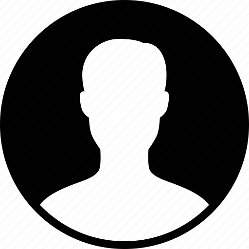 account, avatar, circle, male, profile, round, user icon