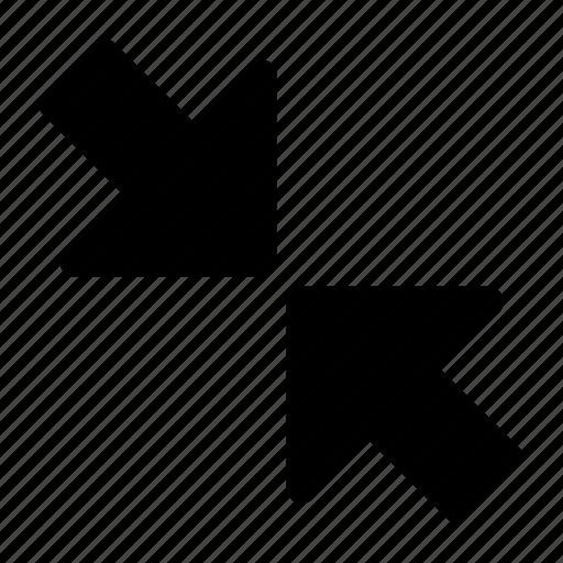 minimize, reduce, reduction icon
