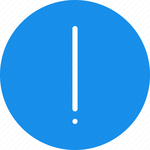 alert, blue, caution, danger, error, exclamation icon