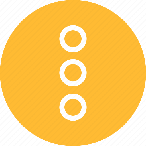 circle, dots, menu, navigate, popup, yellow icon