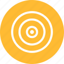 aim, bullseye, efficiency, goal, marketing, objective, yellow icon