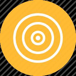 aim, bullseye, efficiency, goal, marketing, objective, yellow icon