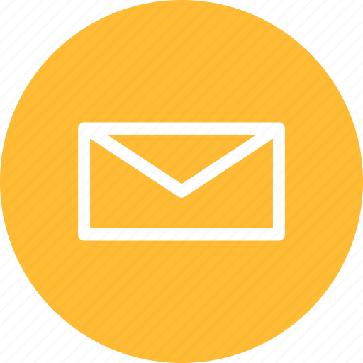 circle, email, letter, mail, message, messages, yellow icon
