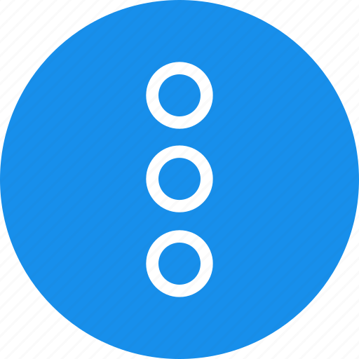 blue, circle, dots, menu, navigate, popup icon