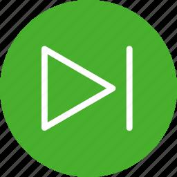 arrow, circle, forward, green, next, right icon