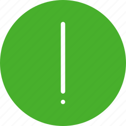 alert, caution, danger, error, exclamation, green icon