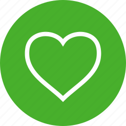 circle, dating, favorite, green, heart, like, love icon