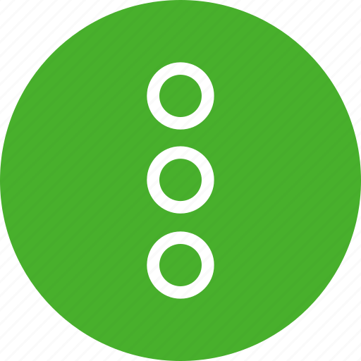 circle, dots, green, menu, navigate, popup icon