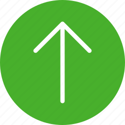 arrow, circle, climb, direction, green, north icon
