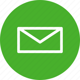 circle, email, green, letter, mail, message, messages icon