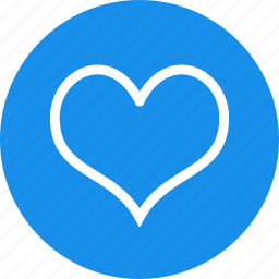 blue, circle, dating, favorite, heart, like, love icon