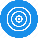 aim, blue, bullseye, efficiency, goal, marketing, objective icon