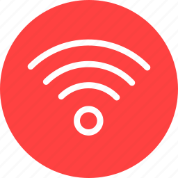 circle, internet, network, red, signal, wifi icon