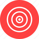 aim, bullseye, efficiency, goal, marketing, objective, red icon